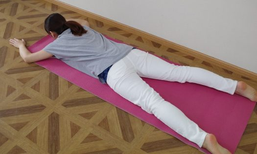 腸腰筋へのストレッチ