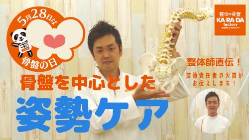 [5月28日は骨盤の日]骨盤を中心とした姿勢ケアトレーニング方法をご紹介!