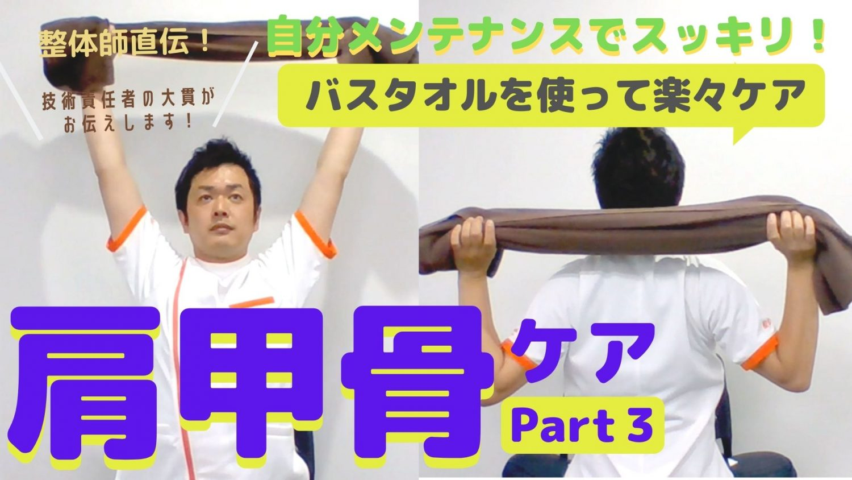 【整体師直伝】バスタオルを使って楽々スッキリ!肩甲骨ケア