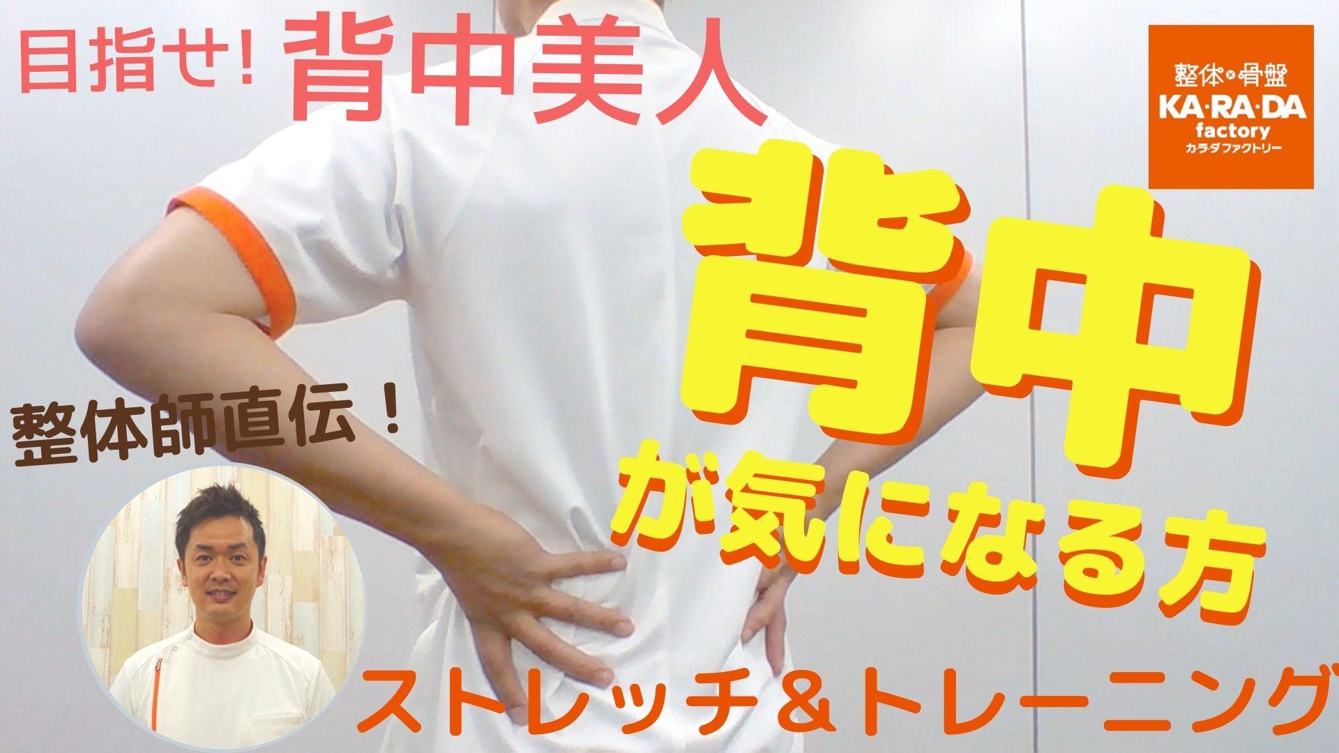 【整体師直伝】目指せ!背中美人 背中が気になる方のストレッチ&トレーニング