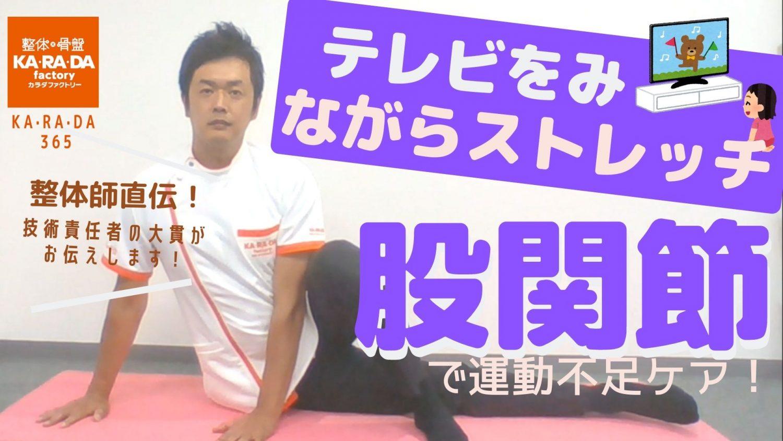 【整体師直伝】テレビをみながらストレッチ 股関節で運動不足ケア!